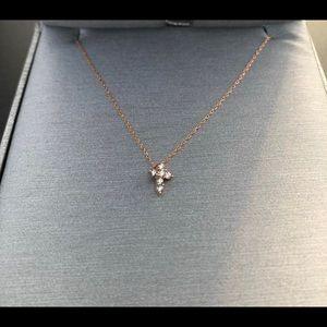 Jewelry - 10k Rose gold small diamond cross
